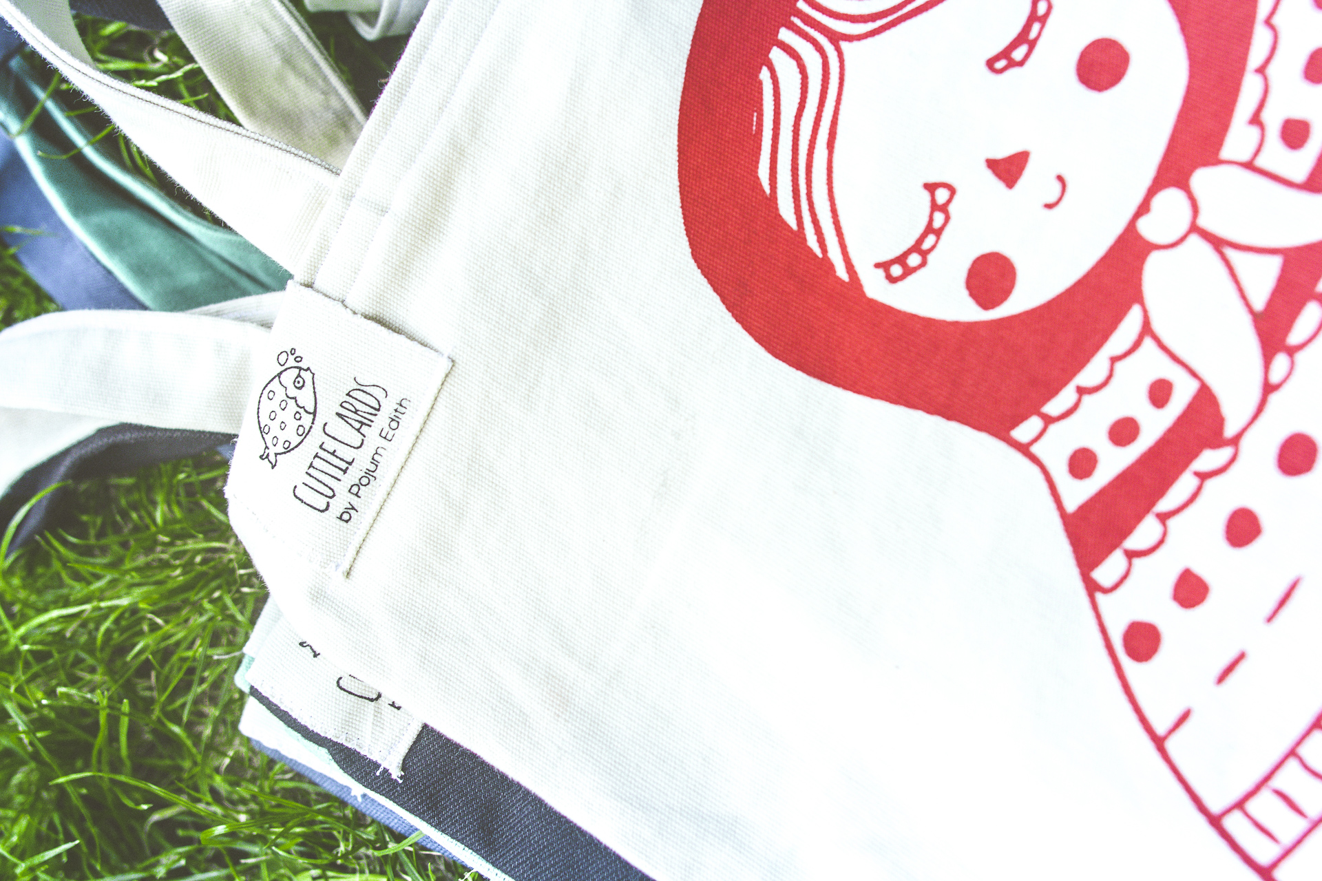 Silk screen printed tote bags
