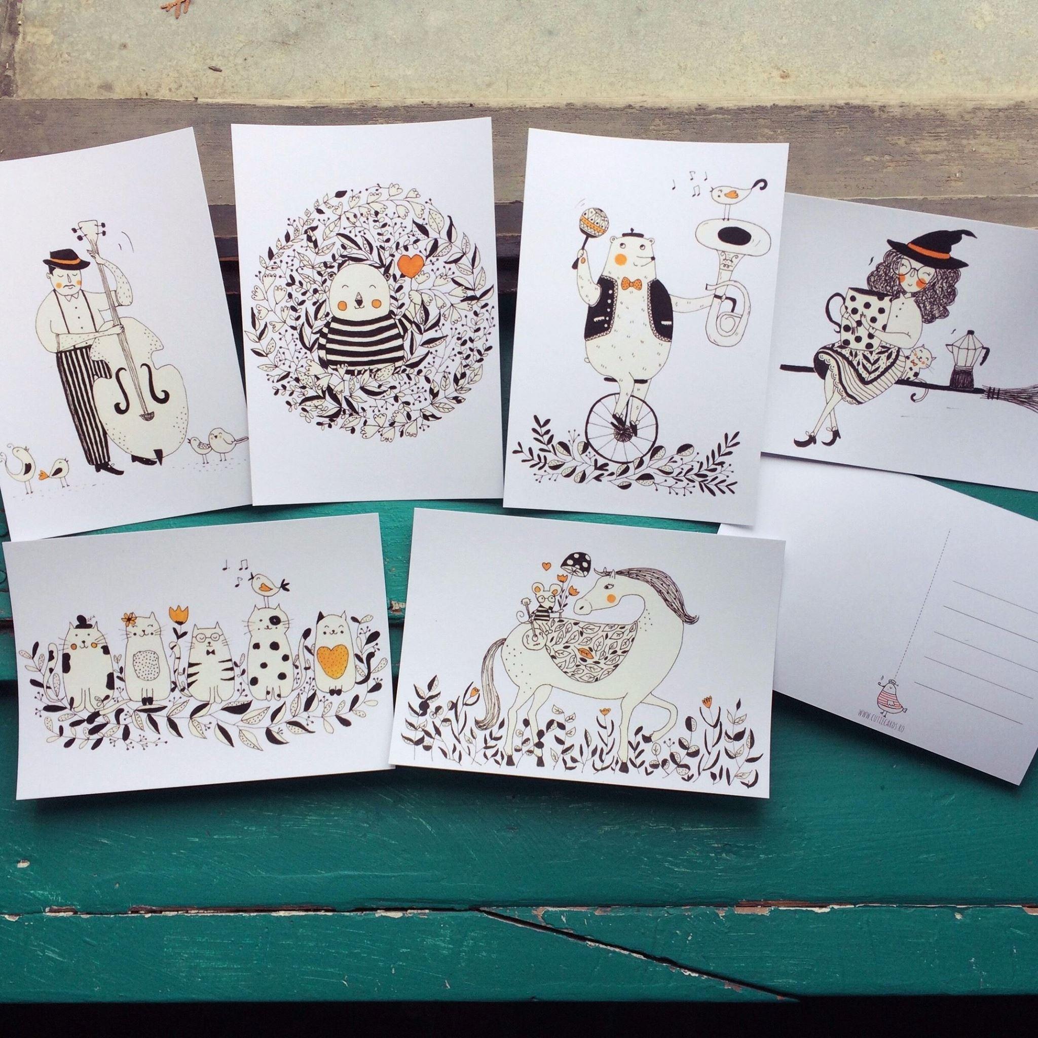 Cutie postcards