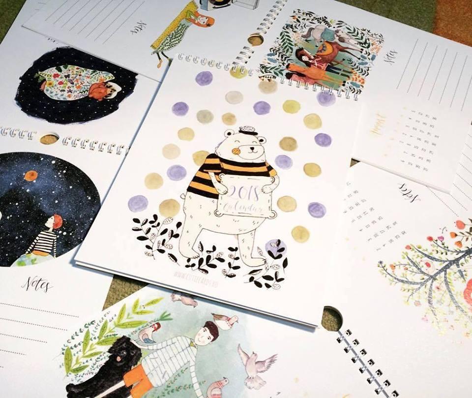 Cutie Cards calendar